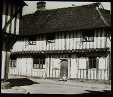 Glass Magic Lantern Slide HOUSE AT LAVENHAM C1930 PHOTO THIRTIES SUFFOLK