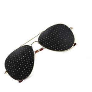 Training Eyewear Vision Glasses Eyesight Improvement Correct Exercise Gold Frame