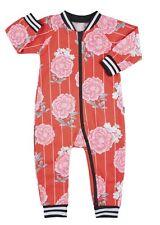 GIFT THIS- BONDS RARE girls Retro Carnation Ribbed Zippy Wondersuit - size 000