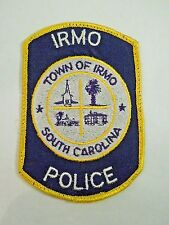 Vintage Town of Irmo South Carolina Police Train Transit Locations Iron On Patch