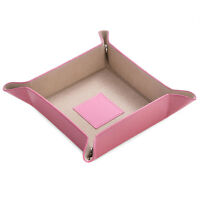 Bey Berk Pink Leather Snap Valet with Pig Skin Tray Leather Lining