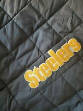 New Pottery Barn Nfl Pittsburgh Steelers Gray Twin Quilt