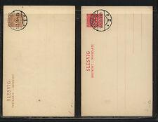 Schleswig   2  postal  cards  cancelled        KL0521