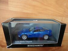 MINICHAMPS 1/43 CLASSIC 2002 ASTON MARTIN VANQUISH BLUE METALLIC CAR 400 137225