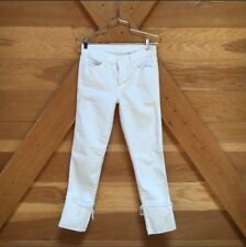 NEVER WORN Mother 'Pony Boy Fray' White Jeans
