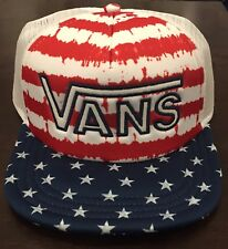 VANS  Drop V Snapback Trucker Hat (NEW) Americana STARS STRIPES America Flag USA
