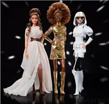 Star Wars Rey, C-3Po, Stormtropper Barbie 3 Dolls with Shippers! In Stock Now!