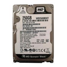 """Western Digital 250GB WD2500BEKT 7200RPM SATA 2.5"""" Laptop HDD Hard Disk Drive"""