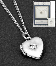 Equilibrium Silver Plated Necklace Heart Locket  Christening Childs Bridesmaid