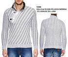 Pullover Maglione da Uomo di Lana Invernale Pesante Giacca in Maglia Grossa Moda