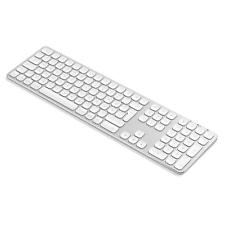 Satechi Aluminium Full Bluetooth Tastatur kabellos für Mac silber