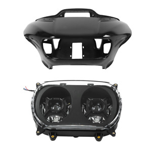 Inner & Outer Fairings Dual LED Headlight Fit For Harley Road Glide FLTR 15-20