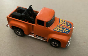 Vintage Hot Wheels 1973 Hi-Tail Hauler! Orange With Black Walls. HK Base!