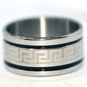 Big Mens Stainless steel Band Ring Womens Rings Jewelry Hip hop Punk Size 8