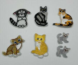 cat  iron on badges/ patch heat transfer DIY cloth bagde