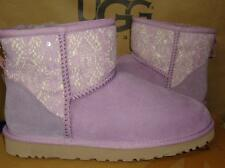 UGG Australia LAVANDER MIST Purple Classic Mini Lace Boots Size US 8 NIB 1005696
