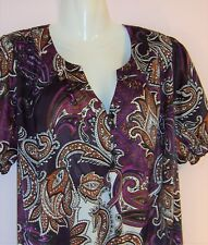 DAMART LADIES SHORT SLEEVE BLOUSE UK SIZE 14