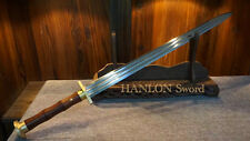 Handmade Chinese Sword Folded Steel Blade Double Edge Functiona Full Tang Sharp