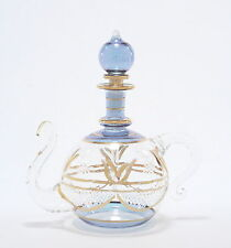 Egyptian Perfume Bottles - Premium Blown Glass Teapot - Blue  4-1124-29