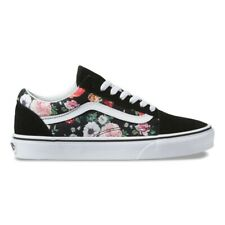 New Vans Old Skool Garden Floral Black/True White Sneakers Low-Top Skate Shoes