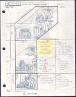Beetlejuice Original Production Animation Storyboard Nelvana Tim Burton 1990 20