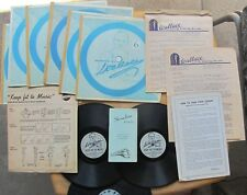 WEIGHT REDUCING 78 rpm records & lessons in box KEEP FIT TO MUSIC (Wallace,1949)