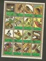 UMM AL QIWAIN -1972 Airmail - Insects - Size: 33 x 46mm - CTO MINIATURE SHEET
