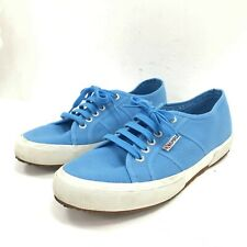 Superga 2750 Cotu Classic Womens Trainers UK 7.5 Azure Blue Canvas Casual 291754