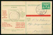 NETHERLANDS STATIONERY 1945 CARD EINDHOVEN TO NUENEN