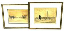 Henri LeRiche (French, 1868 - 1944), two etchings of European city st... Lot 180
