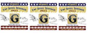 Morrell JMLS-G Nickel Steel 6-String Lap Steel Strings For G Tuning (3-Pack)