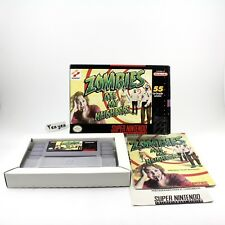 Zombies Ate My Neighbors Super Nintendo SNES COMPLETE CIB BOX MANUAL CARTRIDGE