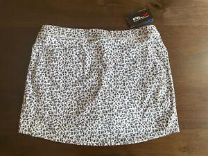 RLX Ralph Lauren Ladies Skort Skirt Golf Floral Black/White Size S BNWT New