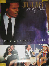 a1 promo poster JULIO IGLESIAS - MY LIFE THE GREATEST HITS