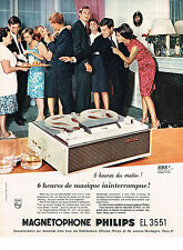 PUBLICITE ADVERTISING  1964   PHILIPS    magnétophone