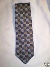 """Riggings Black Brown Gray Rectangular Silk Tie 58.5"""""""