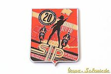 """VESPA Metall-Plakette """"20 Jahre SIP Scootershop 1994-2014"""" - Open Day Emaille"""