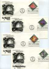 1538-41 Our Mineral Heritage, Artcraft, FDCs with inverted city/date cancel slug