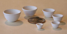 """One """"Six Bowl Nesting Mixing Set"""" unpainted bisque dollhouse miniature sized"""