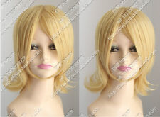 Kagamine Sister Kagamine Rin Cos Wig New Short Blonde Cosplay Anti- Alice Wig