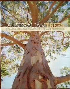 Australian Trees Booklet Including Exclusive Stamp BOOKLET MADE FROM WOOD Rare