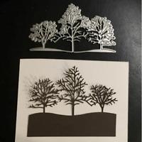 Christmas Snow Tree Metal Cutting Dies Cuts Stencil Scrapbook Embossing Craft