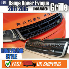HONEYCOMB STYLE GLOSS BLACK & SILVER TRIM FRONT GRILLE RR EVOQUE UPGRADE 11-15