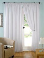 Rideaux et cantonnières blanc prêt à l'emploi en polyester pour la maison
