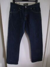 "FIRETRAP 'Blackseal' Men's Indigo Denim 5-Pocket Jeans W34"" L32"" B/Fly Cotton"