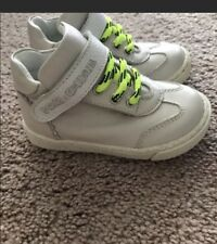 Dolce & Gabbana D&G Baby Toddler Size 20 US 4 High Top Sneakers Neon Faux Lace