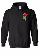 Rose Flower Pocket Romance Men Women Unisex Top Hoodie Sweatshirt 1987