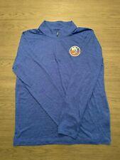 Fanatics Men's NHL New York Islanders 1/4 Zip up Pullover Blue SZ L NWT