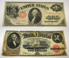 1917 $1 & $2 Legal Tender Notes