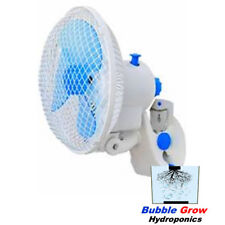GROW TENT CLIP FAN 180MM WITH CLAMP HYDROPONICS POWER SAVING STUDENT FAN
